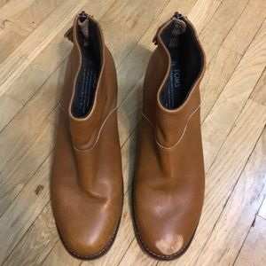 TOMS leather booties size 9